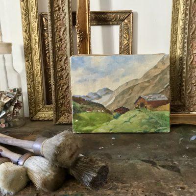 Tableau paysage de montagne