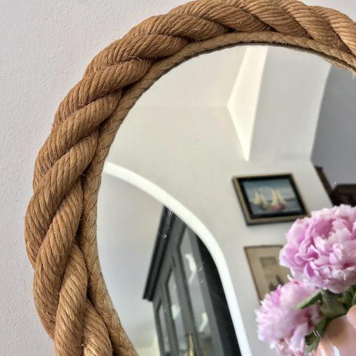 Miroir rond en corde