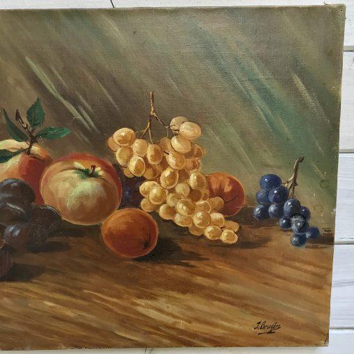 Huiles sur toile nature morte aux fruits