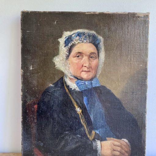 Portrait de vieille femme