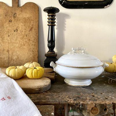 Soupière en porcelaine Alfred Hache et Cie