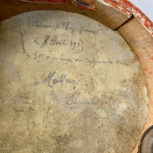 Peinture sur tambourin