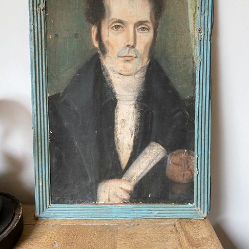 Pastel portrait d'homme